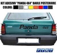 COPPIA ADESIVI LATERALI FIAT PANDA 4X4 SISLEY COLORE BEIGE DI FACILE APPLICAZION