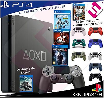 Days of Play PS4 1TB 2019 PLAYSTATION 4 Second Remote choose Colours+4 Games