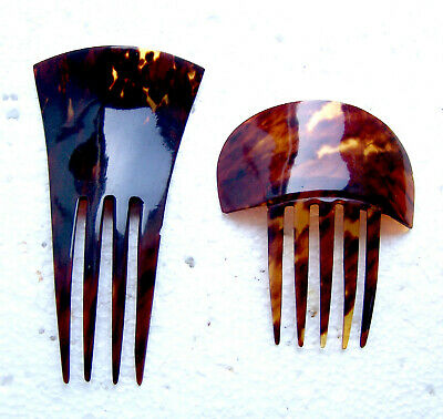 Victorian Wigs, Hair Pieces  | Victorian Hair Jewelry Two late Victorian hair combs faux tortoiseshell Spanish style hair ornaments $150.00 AT vintagedancer.com