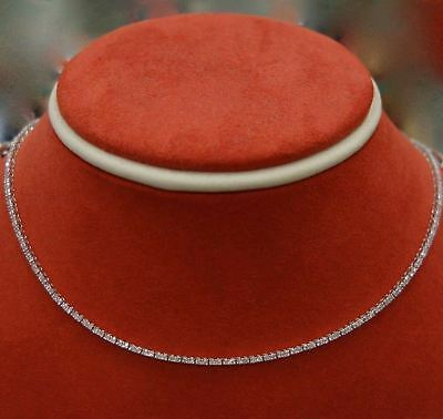 Diamond Tennis Necklace 18k White Gold 2.85 cts Eternity Natural Diamond -