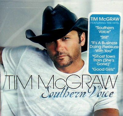 Southern Voice By Tim Mcgraw New  Cd Free Ship  Ghost Town  Still  Good Girls