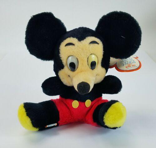 Vintage Walt Disney Mickey Mouse Soft Bean Bag Plush Product of Korea with Tag