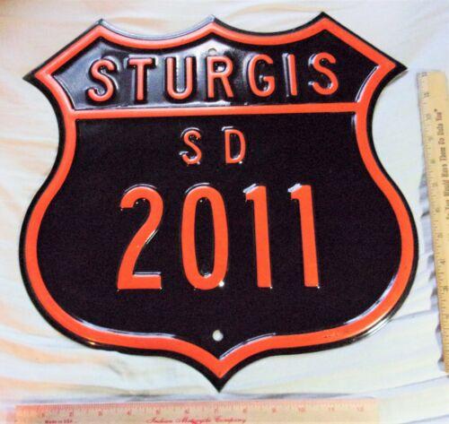 2011 Sturgis sign heavy steel biker collectible motorcycle rally souvenir 16x16