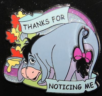 DISNEY Winnie the Pooh Eeyore Thanks for Noticing Me Sliding Slider Tail Pin