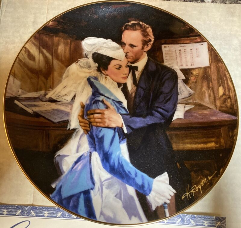 """Gone With the Wind """"A Question Of Honor"""" Collector Plate W. S. George Fine China"""