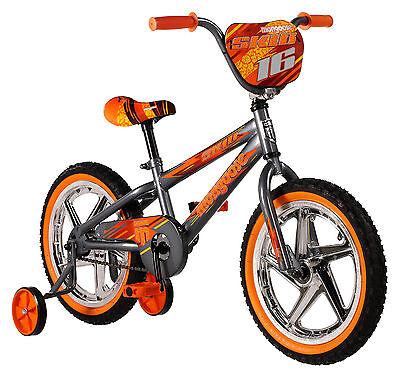 Mongoose 16 inches Boy's Skid Juvenile Bike Bicycle - Grey