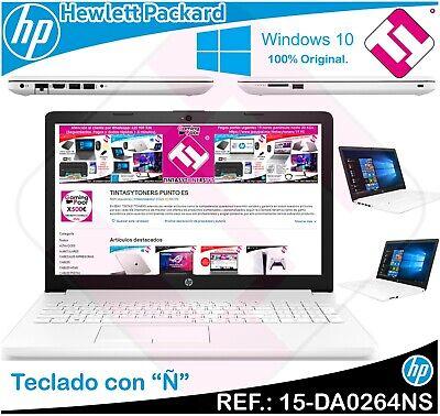 PORTATIL BLANCO HP 15-DA0264N INTEL N4000 15.6