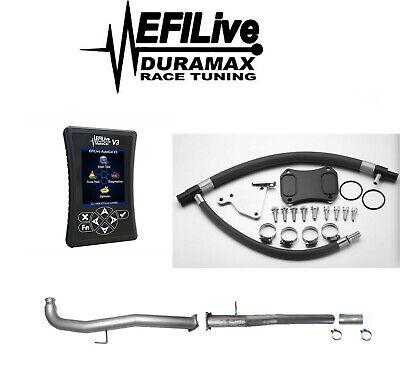 Chevy GMC Duramax LML 6.6L 2011-2015 Complete EGR DPF Delete Kit EFI Live Tuner