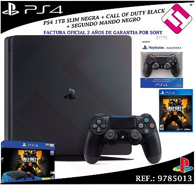 PS4 PLAYSTATION 4 1TB + SET CALL OF DUTY BLACK OPS 4 SECOND BLACK HANDLE SONY