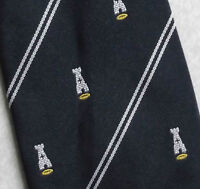Vintage Rugby Tie Navy Blue By Tudor Ties Club Striped 1970s 1980s Retro - vintage - ebay.co.uk