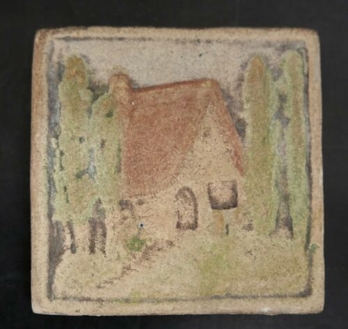 California Art Scenic Tile House in the Trees Vintage