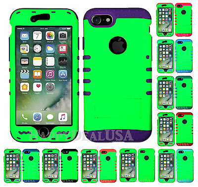 For Apple iPhone 7 & 7 Plus KoolKase Hybrid Silicone Cover Case - Neon Green (Neon Green Silicone)