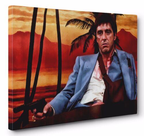 Scarface Al Pacino Framed Canvas Wall Art (Ready To Hang)