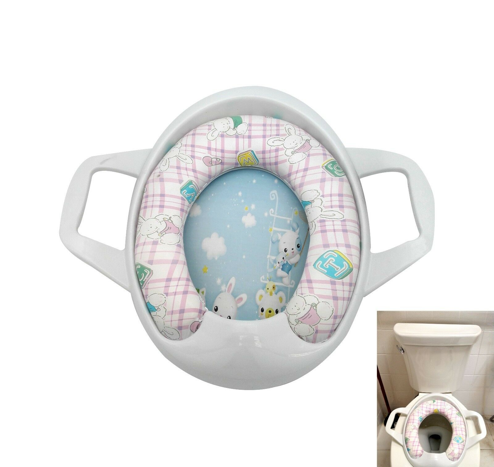 """Uniware 12"""" Baby Toilet Potty Seat With Handle"""