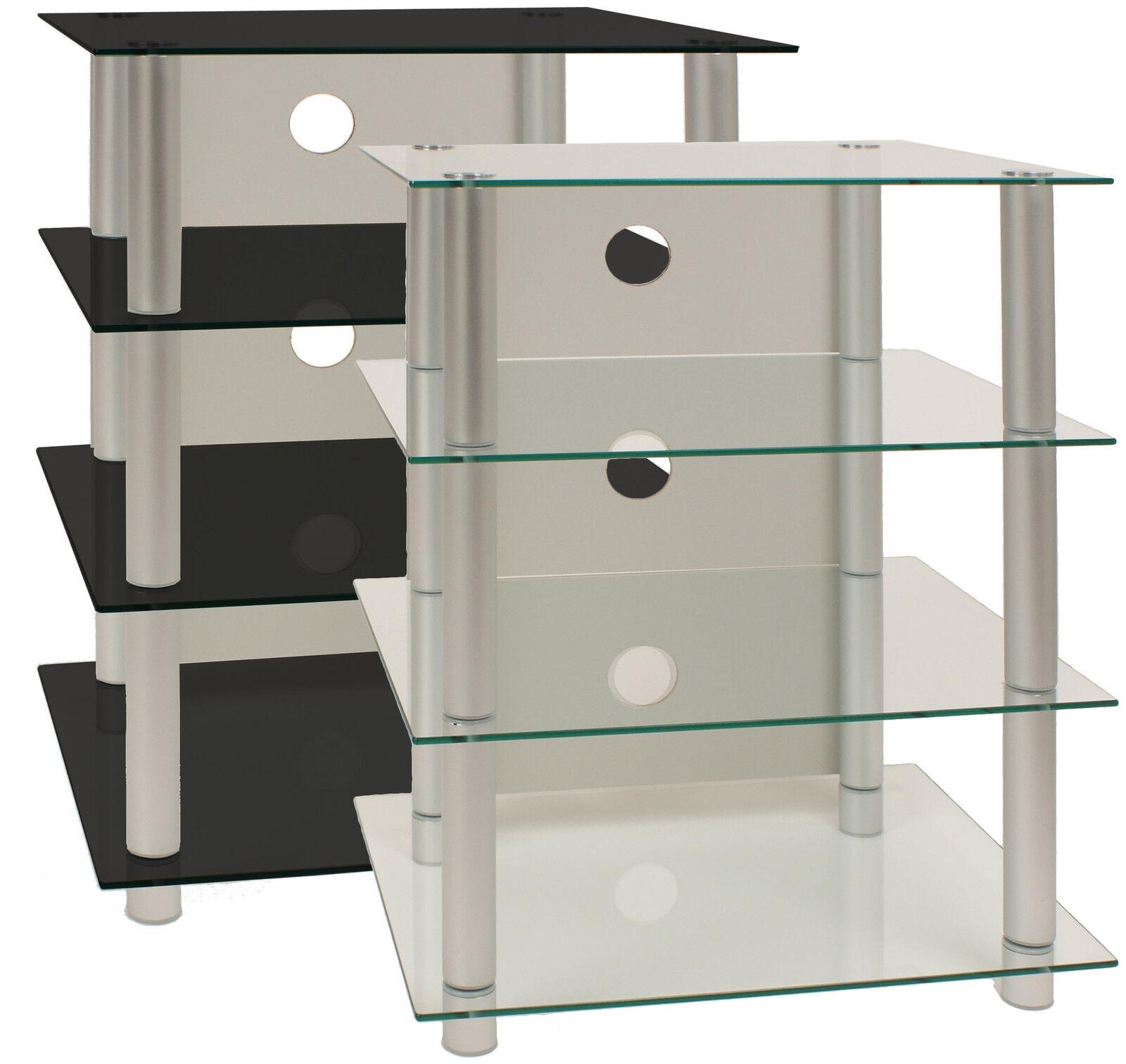 vcm hifi m bel rack phonom bel regal tisch alu glas ebay. Black Bedroom Furniture Sets. Home Design Ideas