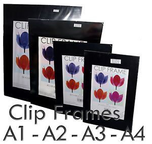 A1-A2-A3-A4-Photo-Art-Poster-Memorabilia-Clip-Frame