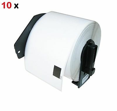 10 Pack Dk-1208 Compatible Label With Holders Brother Ql-570 Ql-700 Ql-720 Ql650