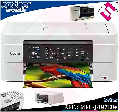 IMPRESORA MULTIFUNCION COLOR BROTHER MFC J497DW WIFI IMPRESION DUPLEX ADF FAX