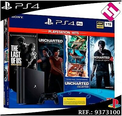 PS4 PLAYSTATION 4 PRO 1TB THE LAST OF US UNCHARTED LEGACY COLLECTION...