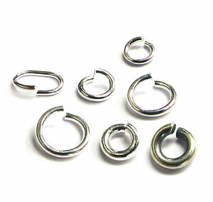 Sterling-Silver-Round-Oval-Open-Jump-Ring-Regular-Heavy-Many-Size-Quantity