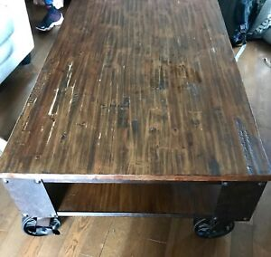 Industrial looking coffee table