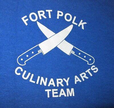 Fort Ft. Polk Culinary Arts Team blue t-SHIRT US Army Leesville Louisiana