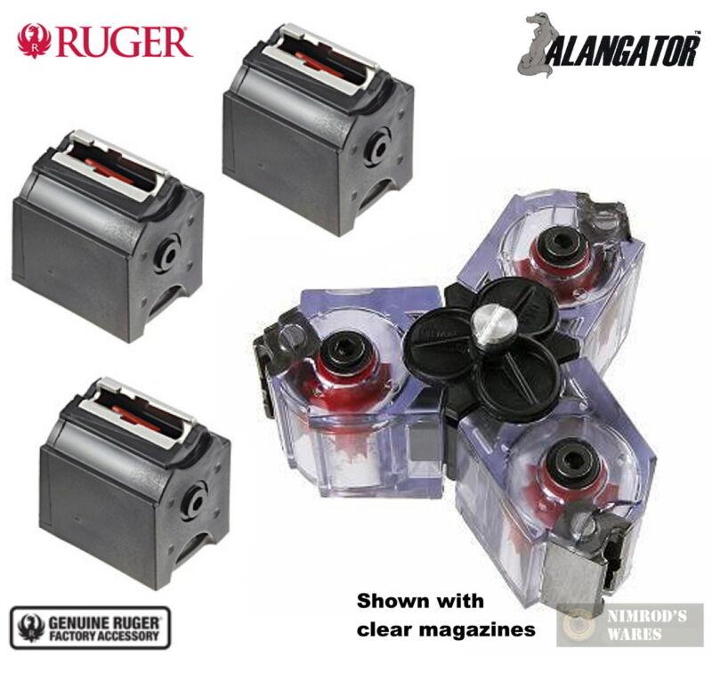 Ruger 10/22 BX-1 .22LR 10 Round MAGAZINES 3-Pk + Alangator TRIMAG Clip Connector