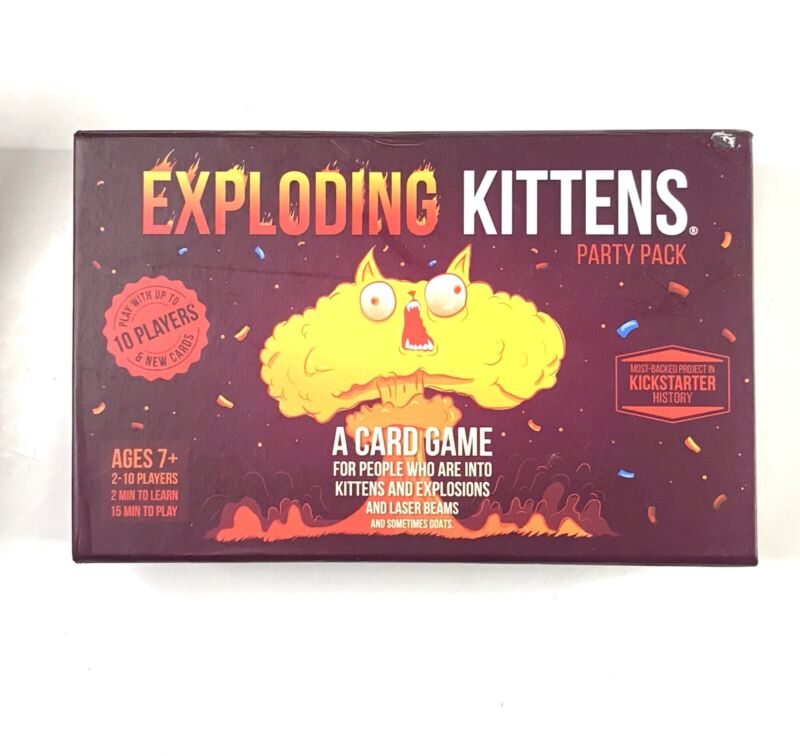 Exploding Kittens Party Pack Card Game Multiplayer Game Complete