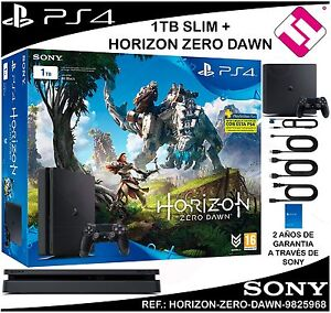 VIDEOCONSOLA-SONY-PS4-PLAYSTATION-4-1TB-SLIM-HORIZON-ZERO-DAWN-OFERTA-TOP-VENTA