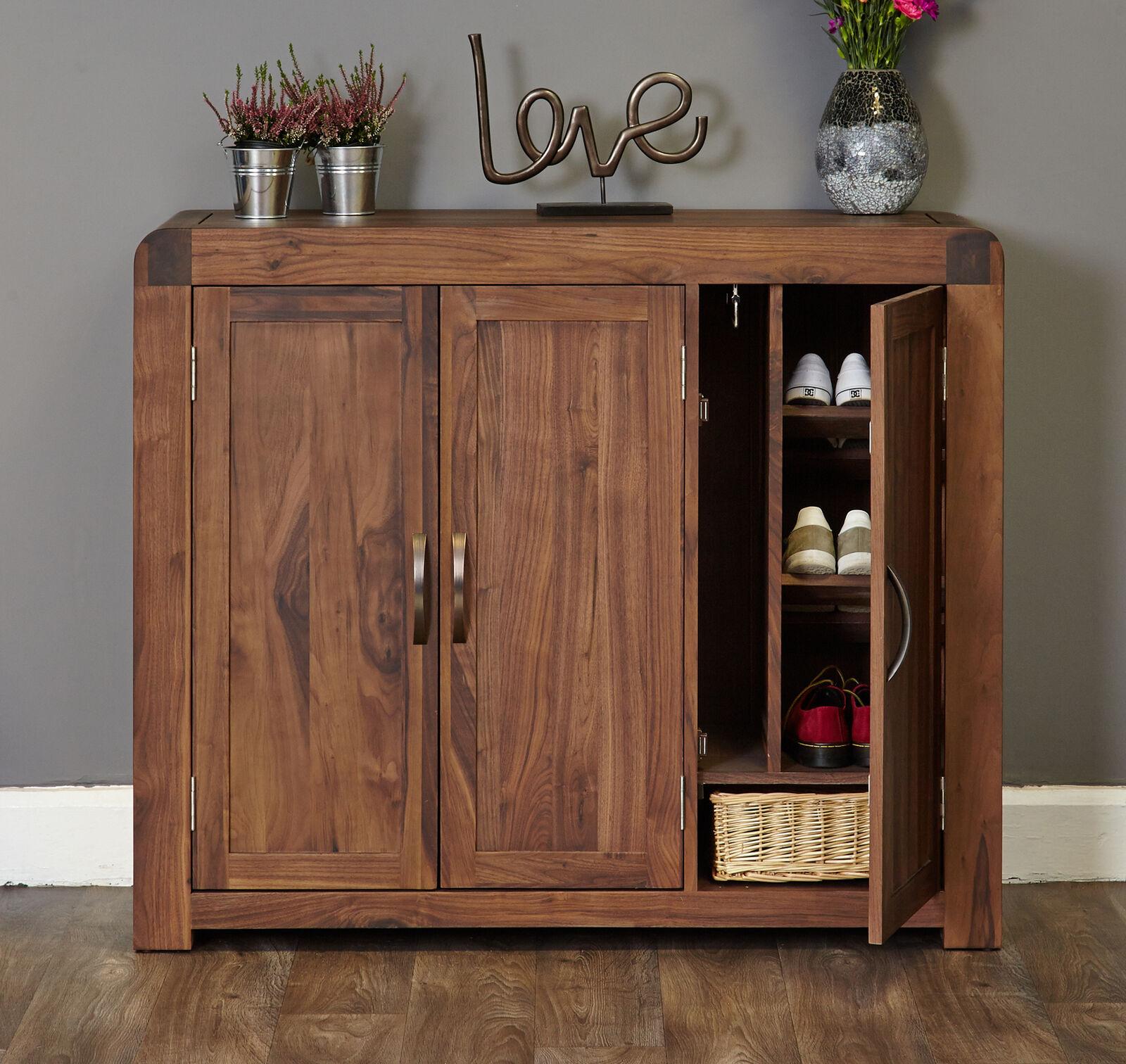 Shiro Premium Dark Wood Shoe Cabinet