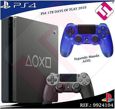 Days of Play PS4 1TB 2019 PLAYSTATION 4 Limited Edition + Second Remote Blue