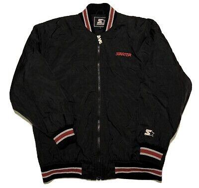 Vintage Starter Bomber Puffer Jacket Size Large 90s Vtg