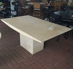 Travertine Marble Coffee Table : Actona Rectangle Travertine Marble Dining  Table Rrp