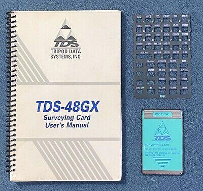 Tds Survey Gx Card W Manual For Hp 48gx Calculator