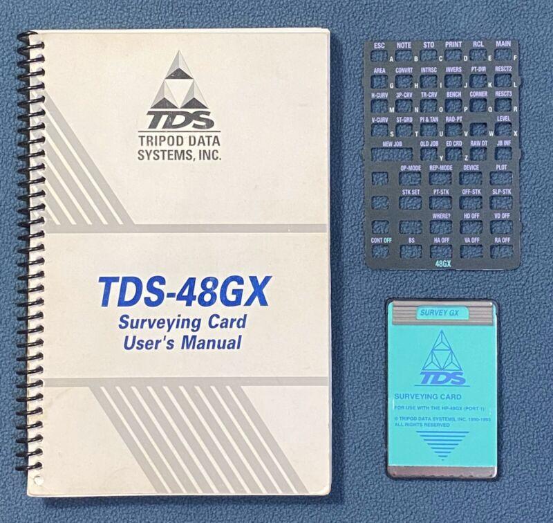 TDS Survey Card w/ Manual Overlay for HP-48GX Calculator