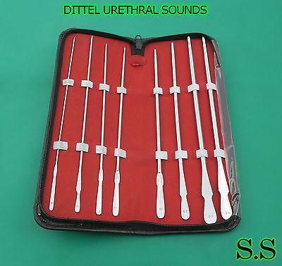 Dittel Urethral Sounds Set Of 8 Urology Surgical Medical