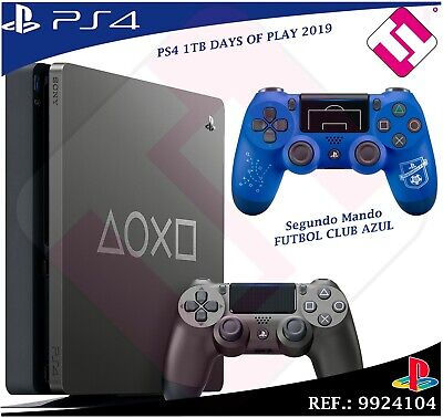 Days of Play PS4 1TB 2019 PLAYSTATION 4+ Second Remote Football Club Blue