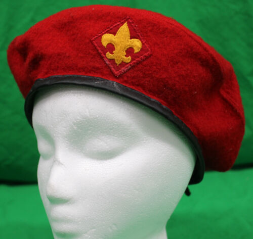 Original Vintage Wool Boy Scouts Beret Large 7 1/8 - 7 1/4