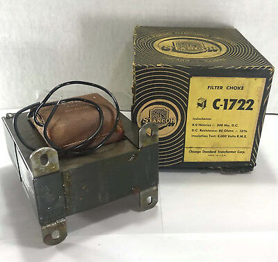 1 New Stancor C-1722 Filter Choke Power Transformer Nibnnb Make Offer