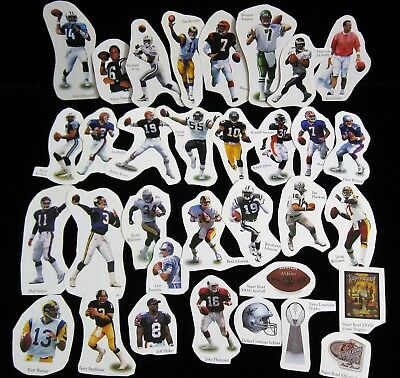 NFL Peel-Off Stickers by Player (assorted)  ..... Pick from the drop down menu Nfl Past Player