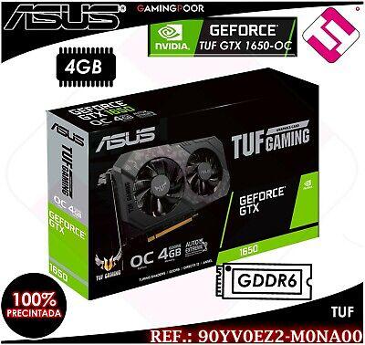 TARJETA GRAFICA ASUS TUF GTX 1650 OC 4GB GDDR6 GAMING NVIDIA GEFORCE...