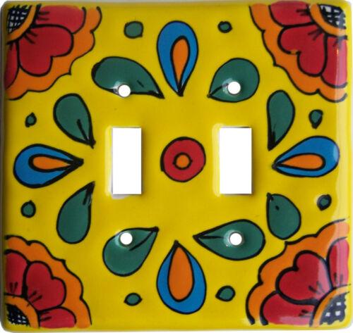 Canary Talavera Ceramic Double Switch Plate