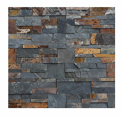 1 Muster W-009 Naturstein Verblender Schiefer - Fliesen Lager Stein-mosaik NRW