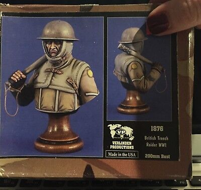 VERLINDEN Productions British Trench Raider WWII 200mm Bust 1876