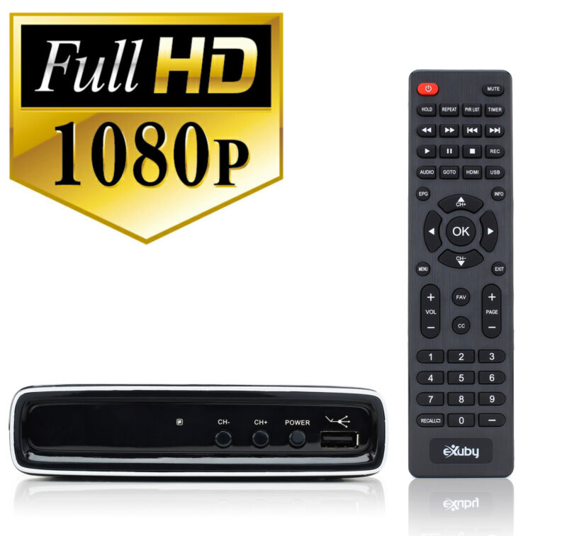 Digital Converter Box  for Watching and Recording HD Channels w/ Remote