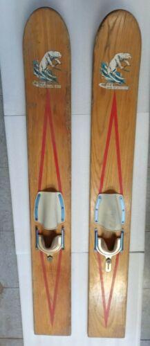 Vintage 1957-1959 White Bear Water Ski Co. Rare trick skis, Antique Americana
