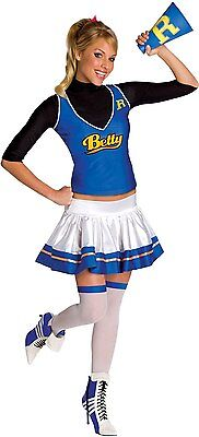 Betty Cooper Archie Comic Riverdale Cheerleader Dress Up Halloween Adult Costume