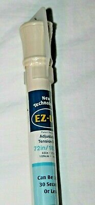 Maytex Mills EZ-UP Adjustable Tension Bone Shower Curtain Rod 72