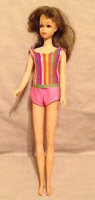 Vintage Old Barbie Doll Francie swim suit-cousin friends-1965 Mattel-brunette