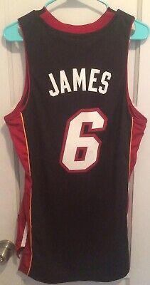 LeBron James Miami Heat NBA Jersey Men S Adidas Sewn King #6 New Basketball Wade